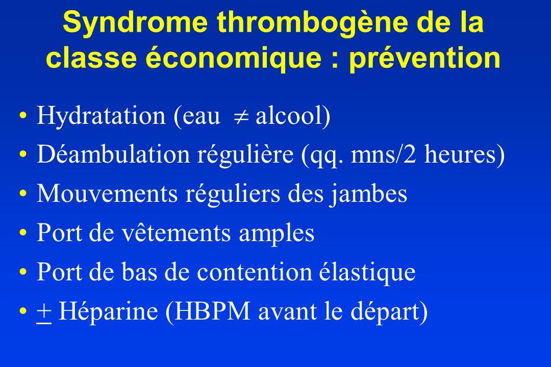 Syndrome thrombogène de la classe économique : prévention