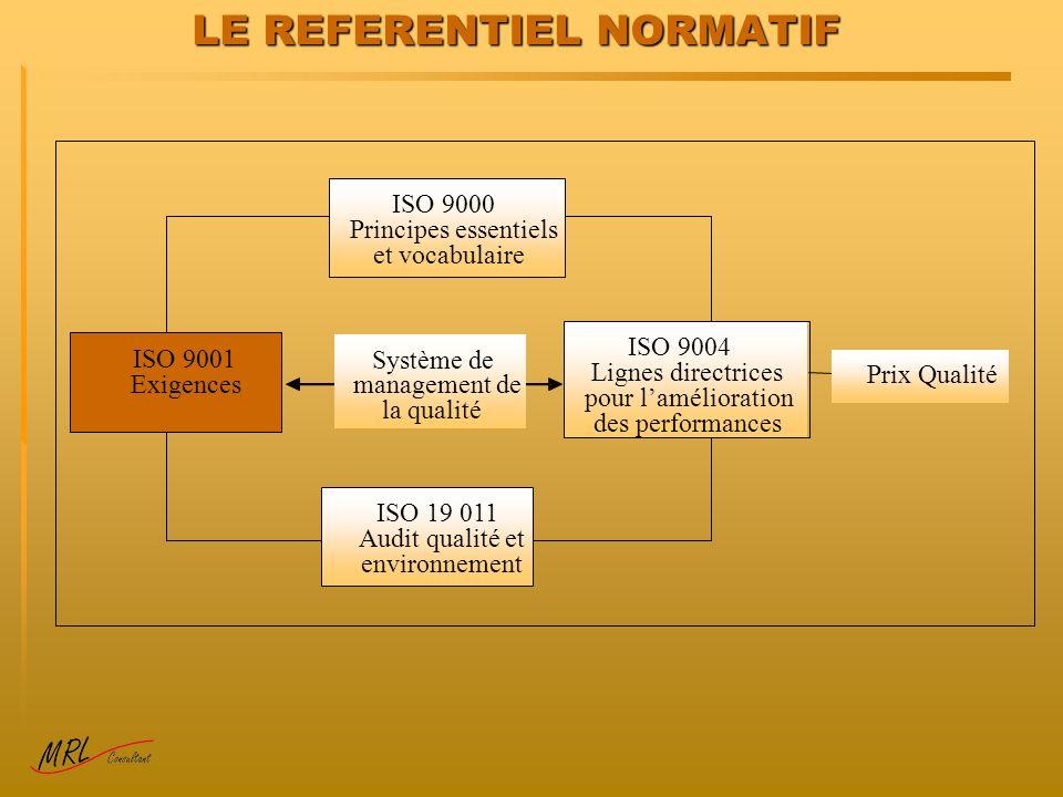 LE REFERENTIEL NORMATIF