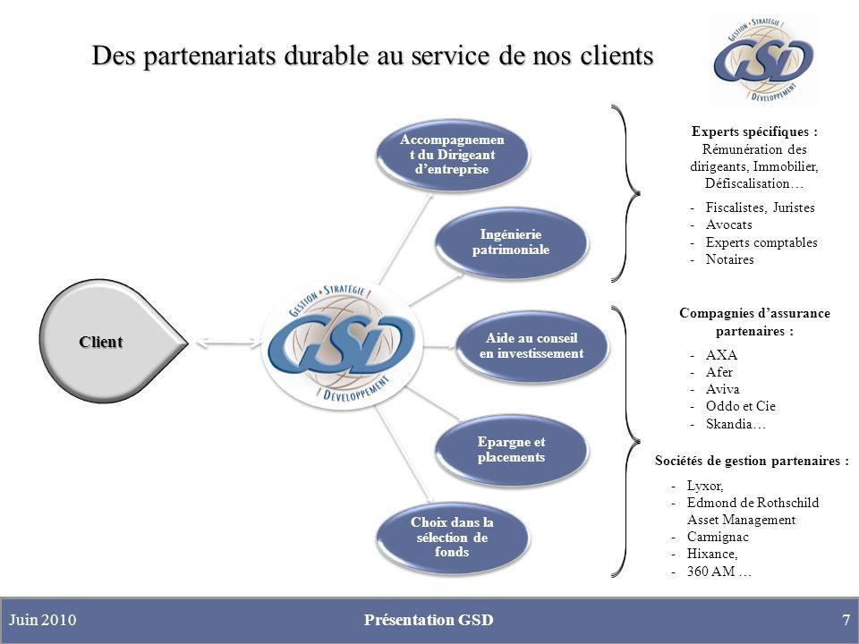 Des partenariats durable au service de nos clients