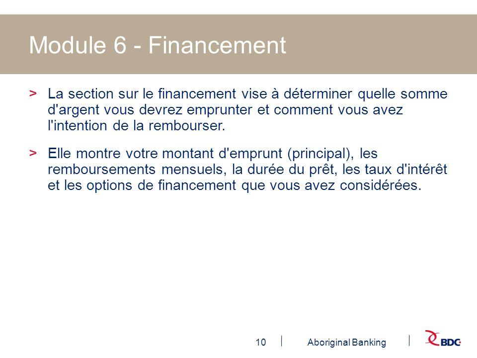 Module 6 - Financement