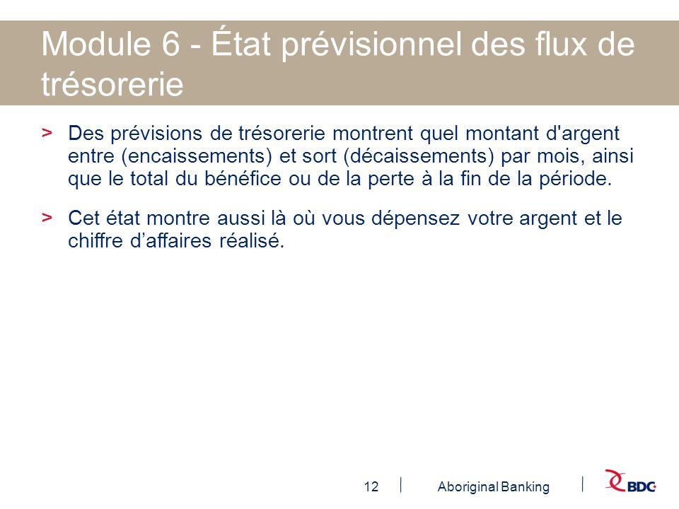 Module 6 - État prévisionnel des flux de trésorerie