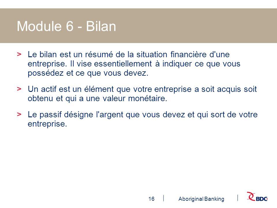 Module 6 - Bilan