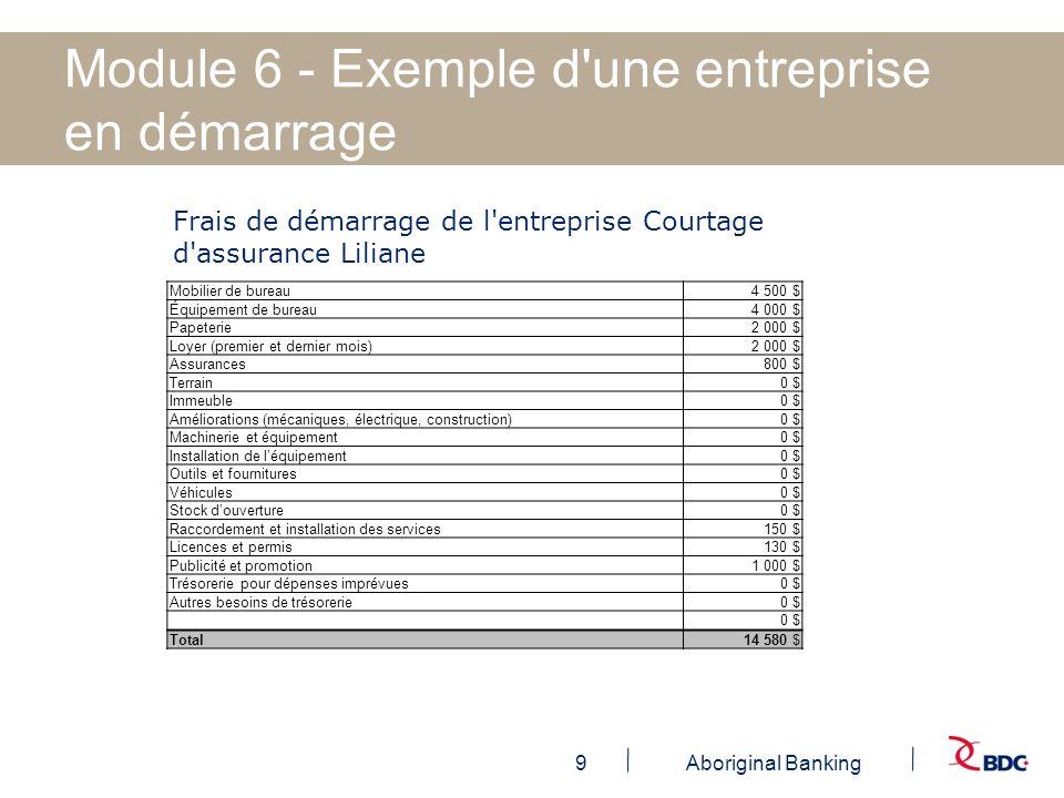 Module 6 - Exemple d une entreprise en démarrage
