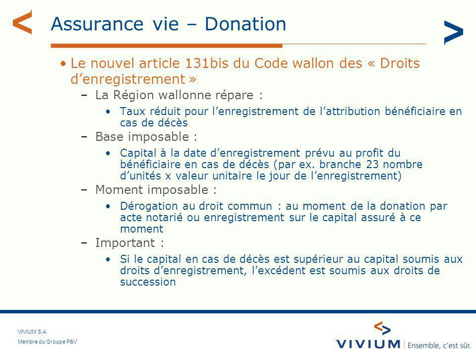 Assurance vie – Donation