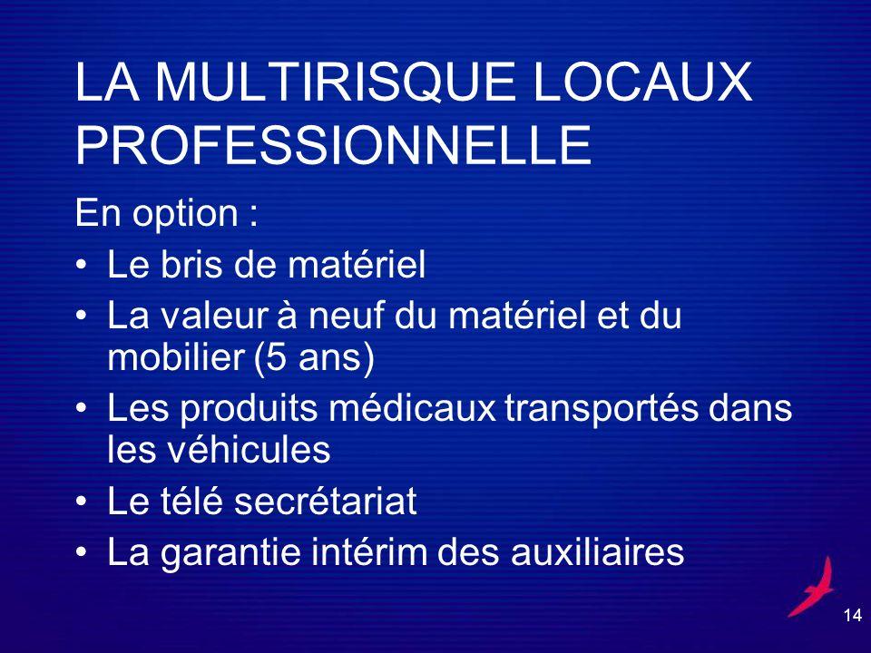 LA MULTIRISQUE LOCAUX PROFESSIONNELLE