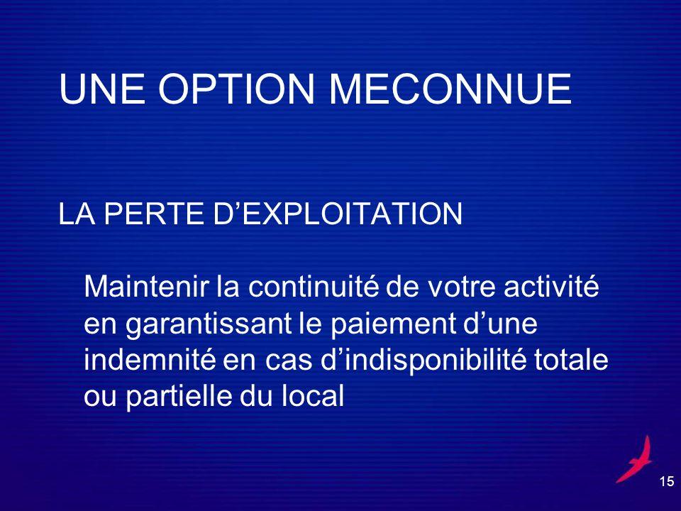 UNE OPTION MECONNUE