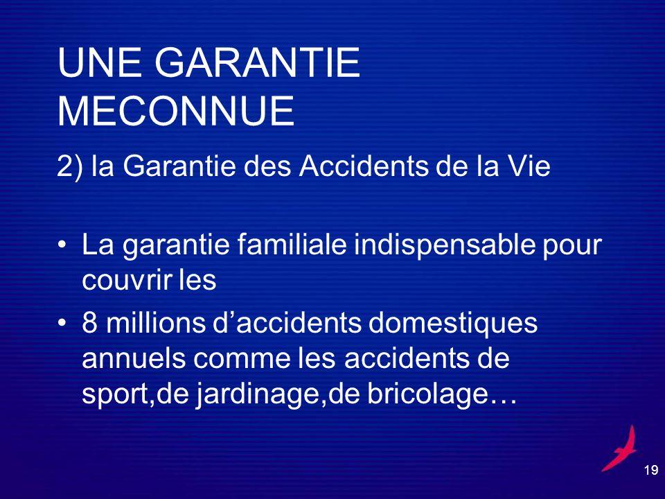 UNE GARANTIE MECONNUE 2) la Garantie des Accidents de la Vie