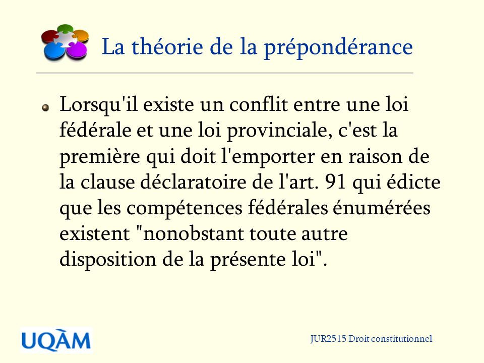 La théorie de la prépondérance