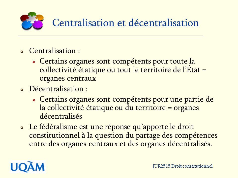 Centralisation et décentralisation