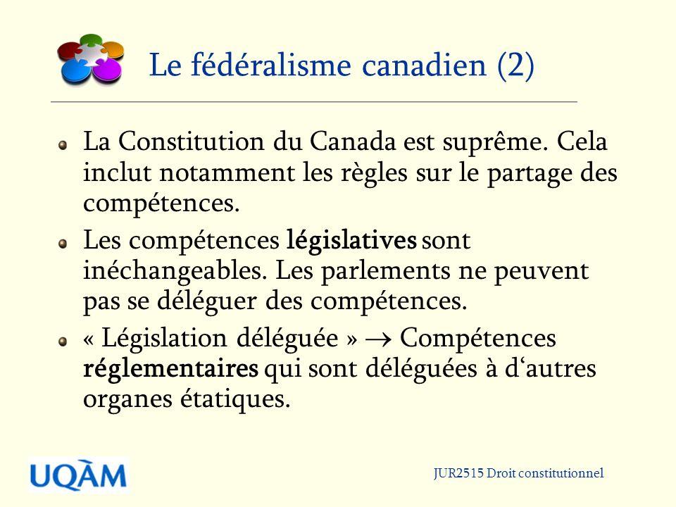 Le fédéralisme canadien (2)