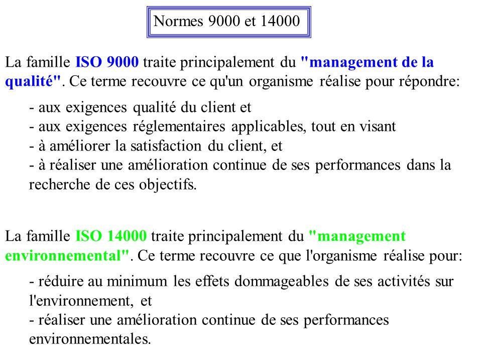 Normes 9000 et 14000