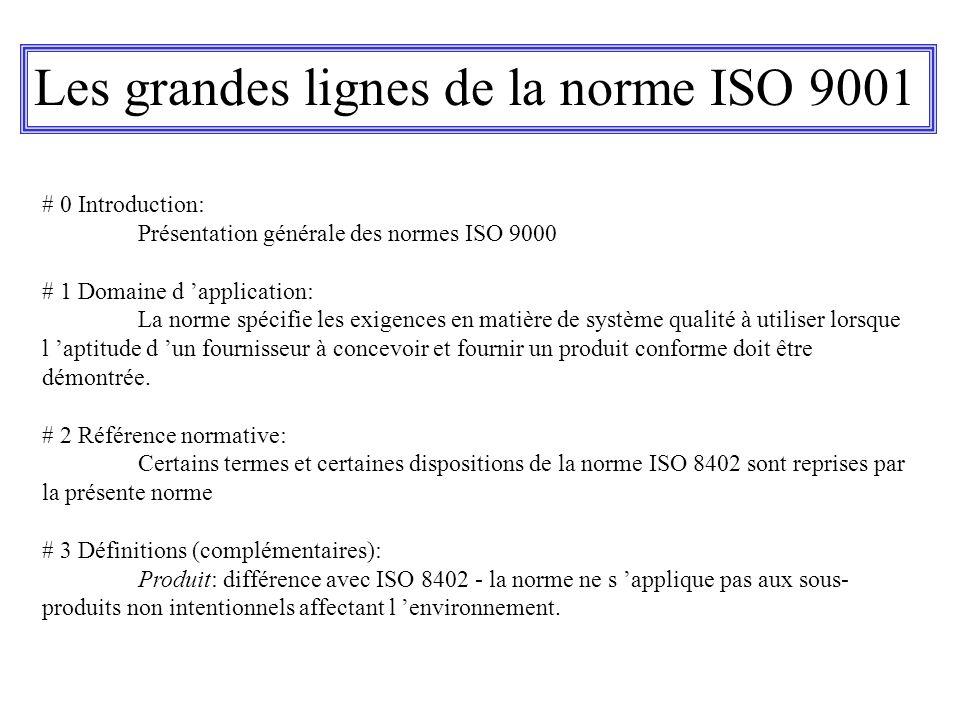 Les grandes lignes de la norme ISO 9001