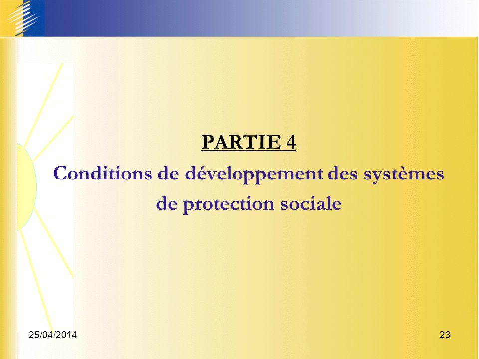 Conditions de développement des systèmes