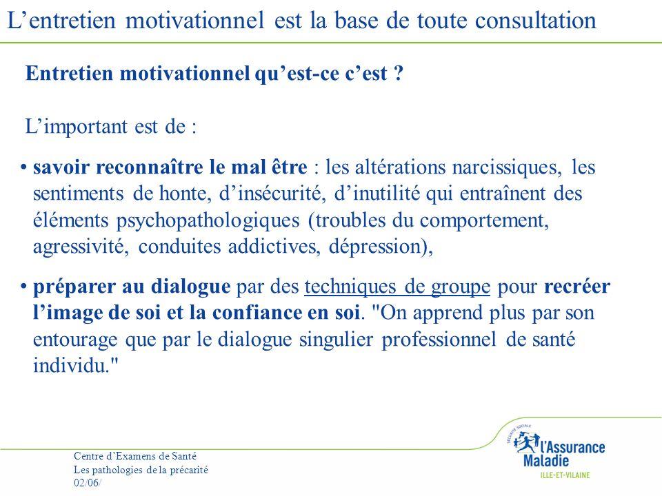 L'entretien motivationnel est la base de toute consultation