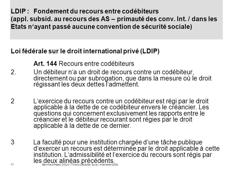 Loi fédérale sur le droit international privé (LDIP)
