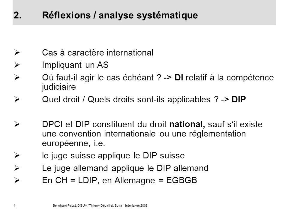 2. Réflexions / analyse systématique