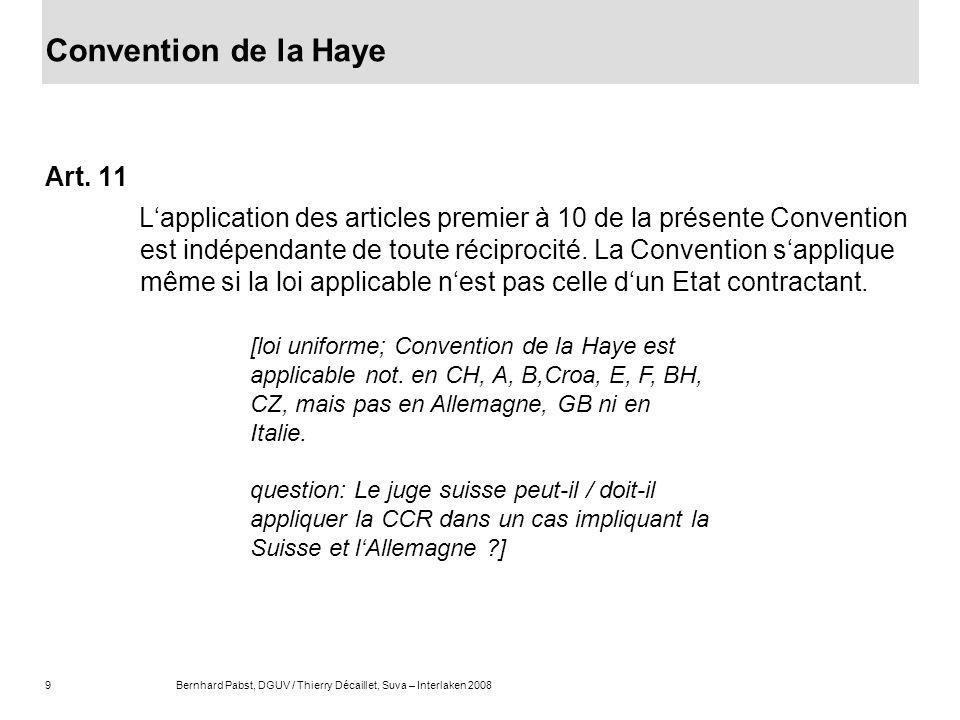 convention de la haye 1955 application