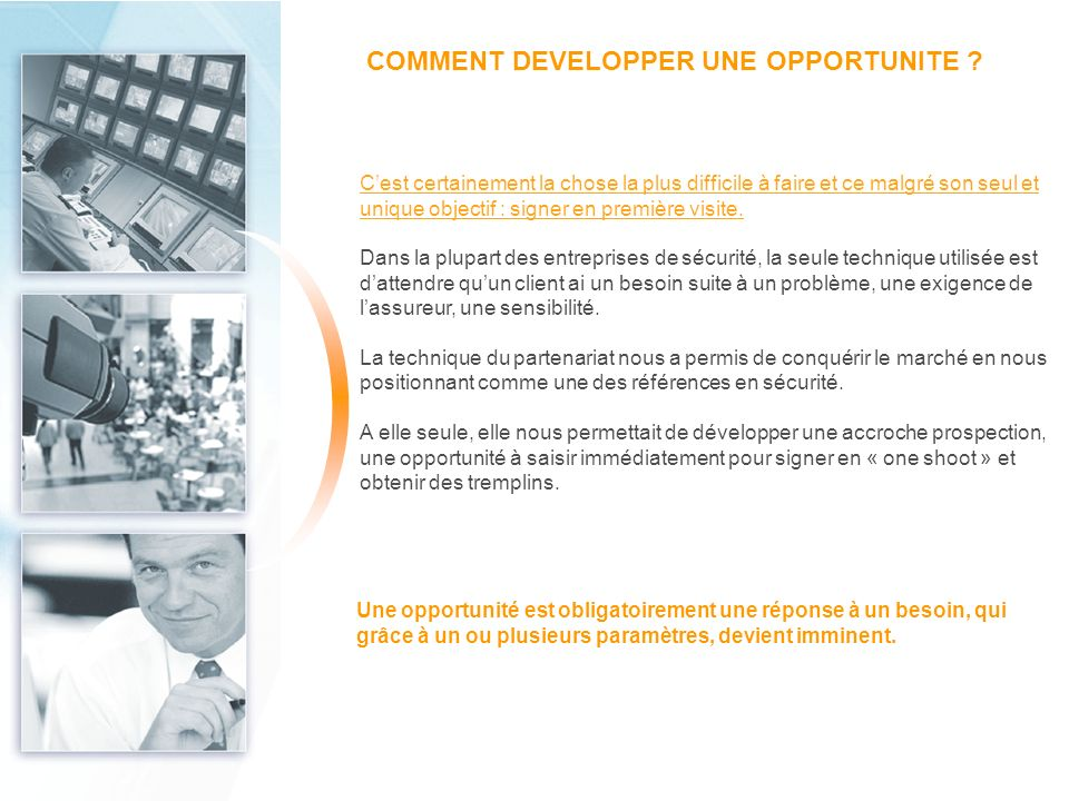 COMMENT DEVELOPPER UNE OPPORTUNITE
