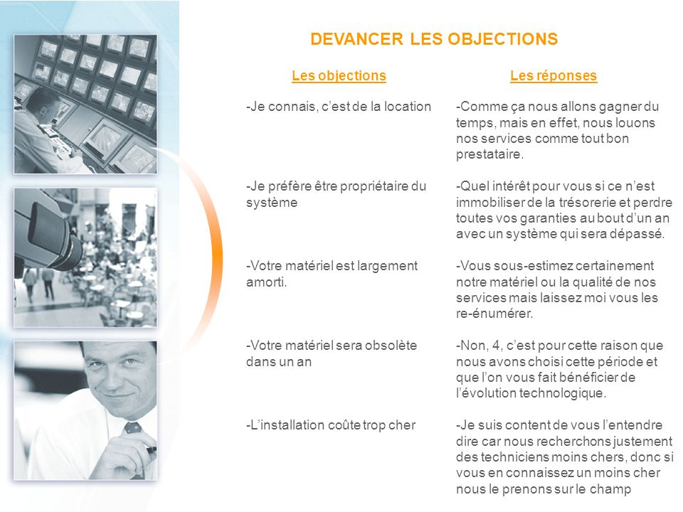 DEVANCER LES OBJECTIONS