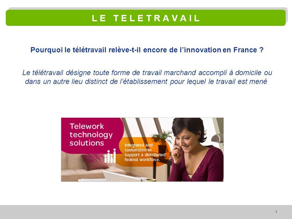 Pourquoi le télétravail relève-t-il encore de l'innovation en France