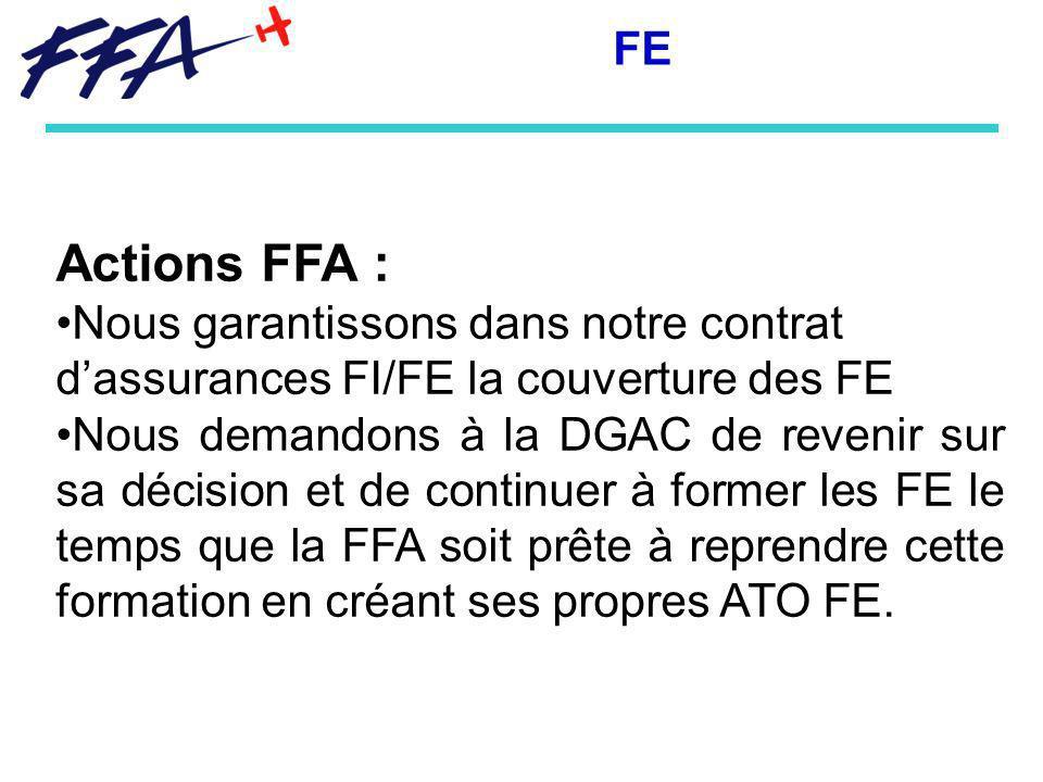 FE Actions FFA : Nous garantissons dans notre contrat d'assurances FI/FE la couverture des FE.