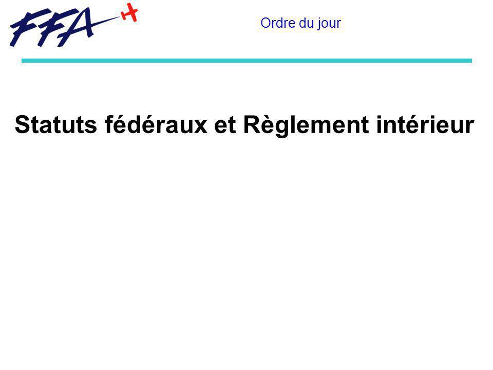 Statuts fédéraux et Règlement intérieur