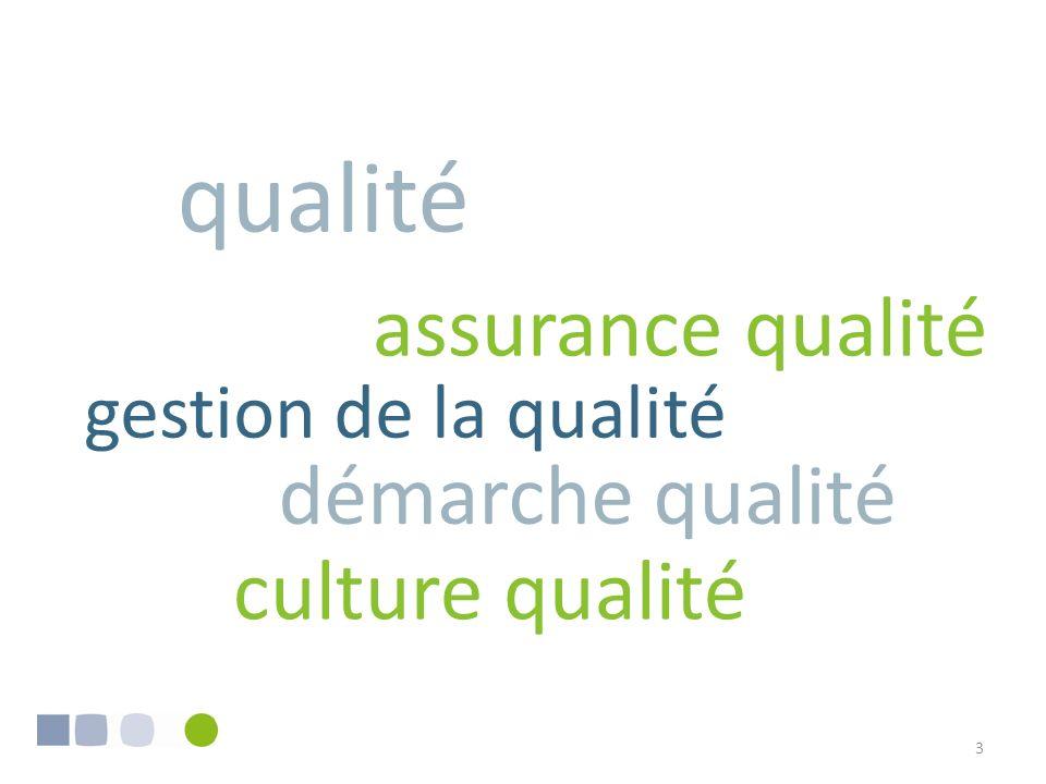 qualité assurance qualité démarche qualité culture qualité