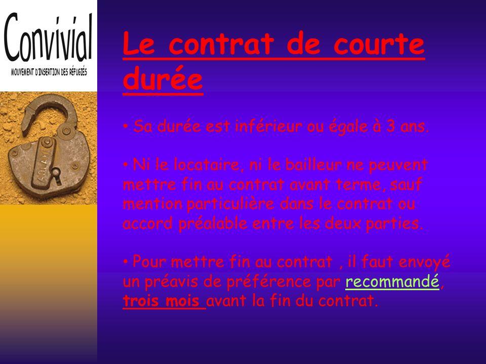 Le contrat de courte durée