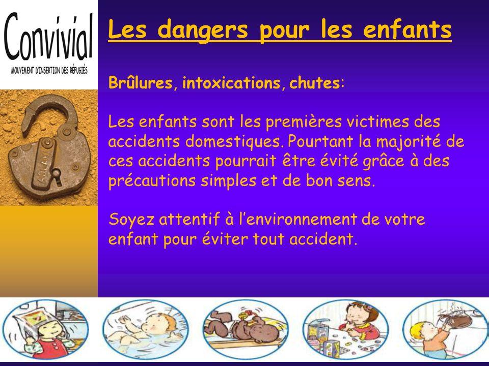Les dangers pour les enfants