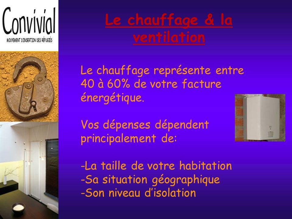 Le chauffage & la ventilation