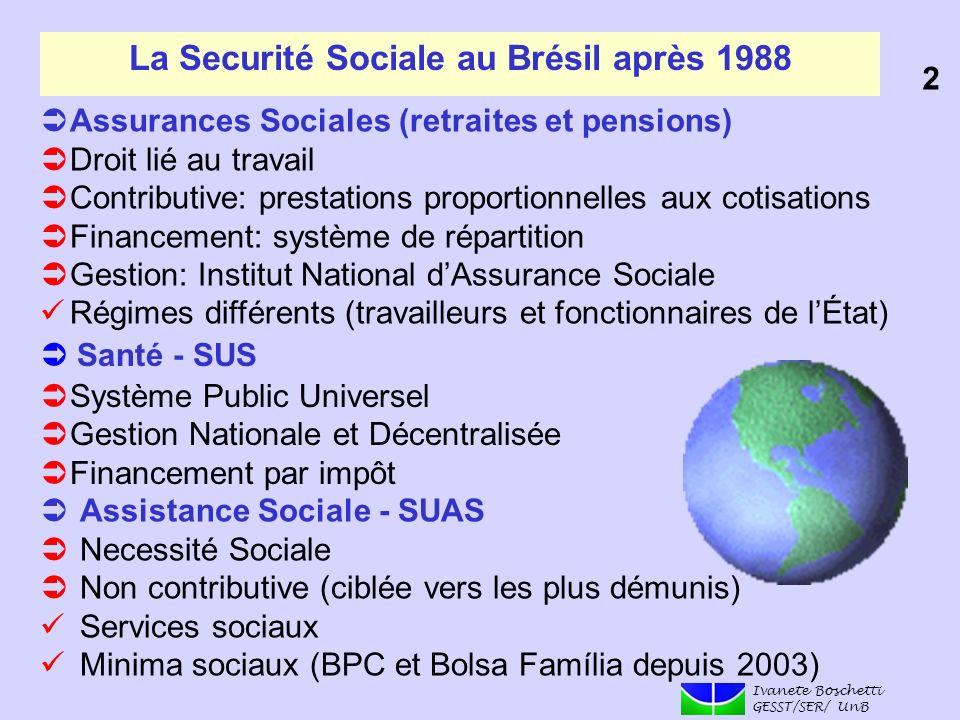 La Securité Sociale au Brésil après 1988