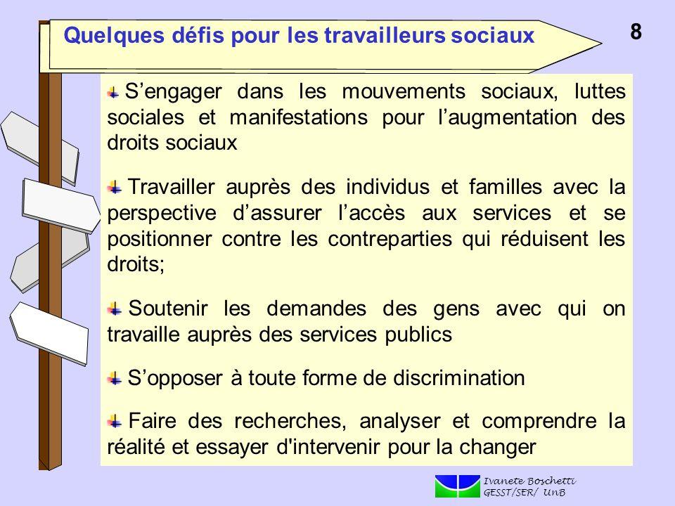 Quelques défis pour les travailleurs sociaux