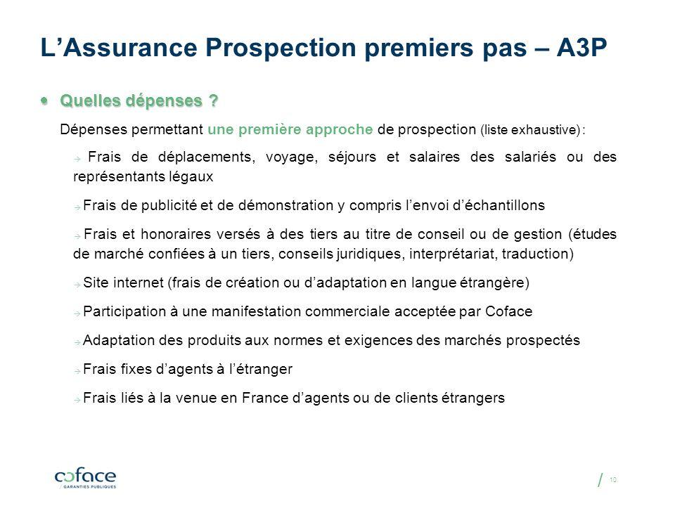L'Assurance Prospection premiers pas – A3P