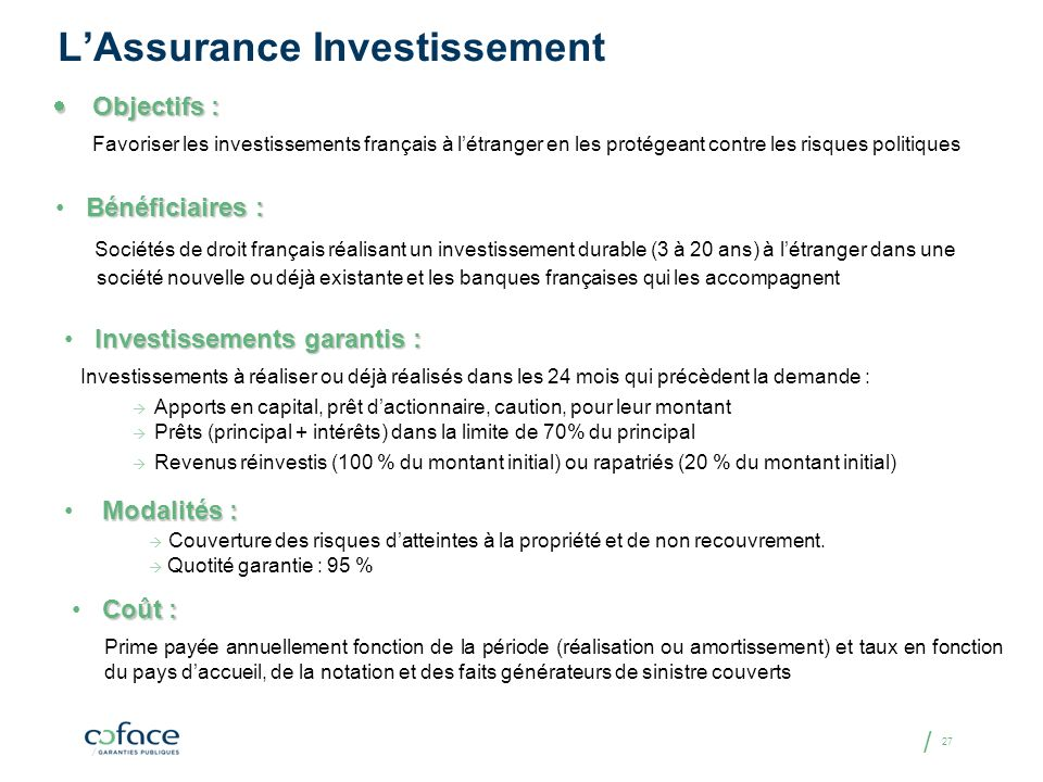 L'Assurance Investissement