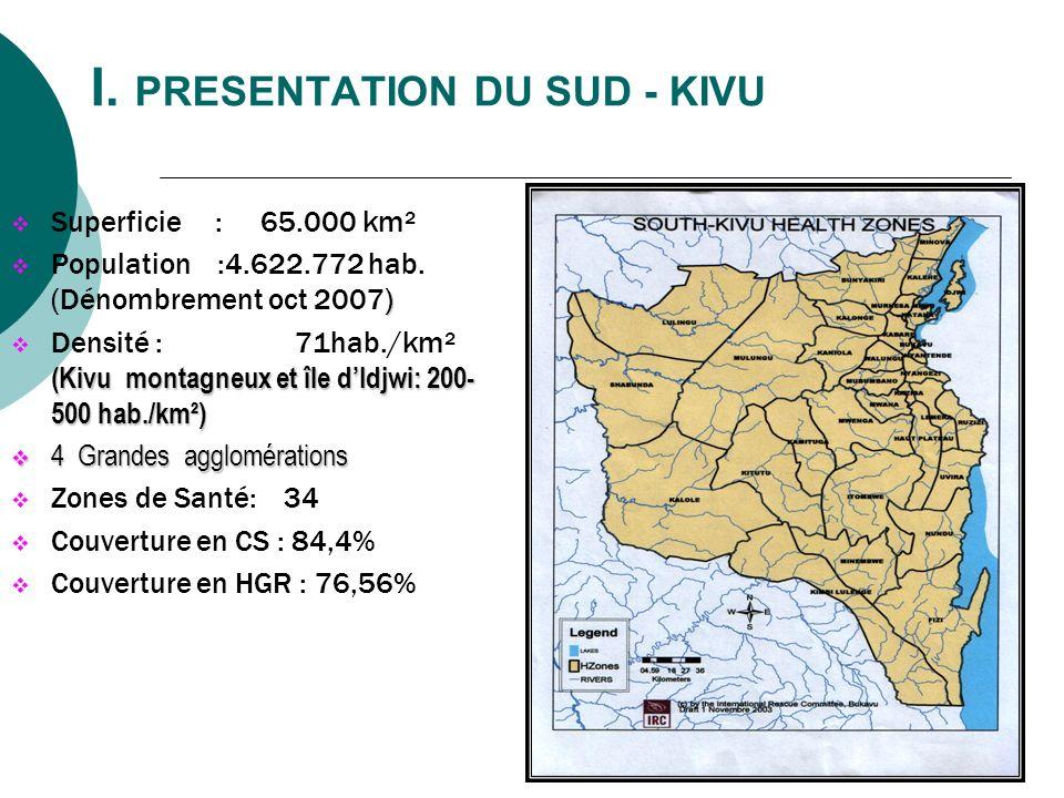 I. PRESENTATION DU SUD - KIVU