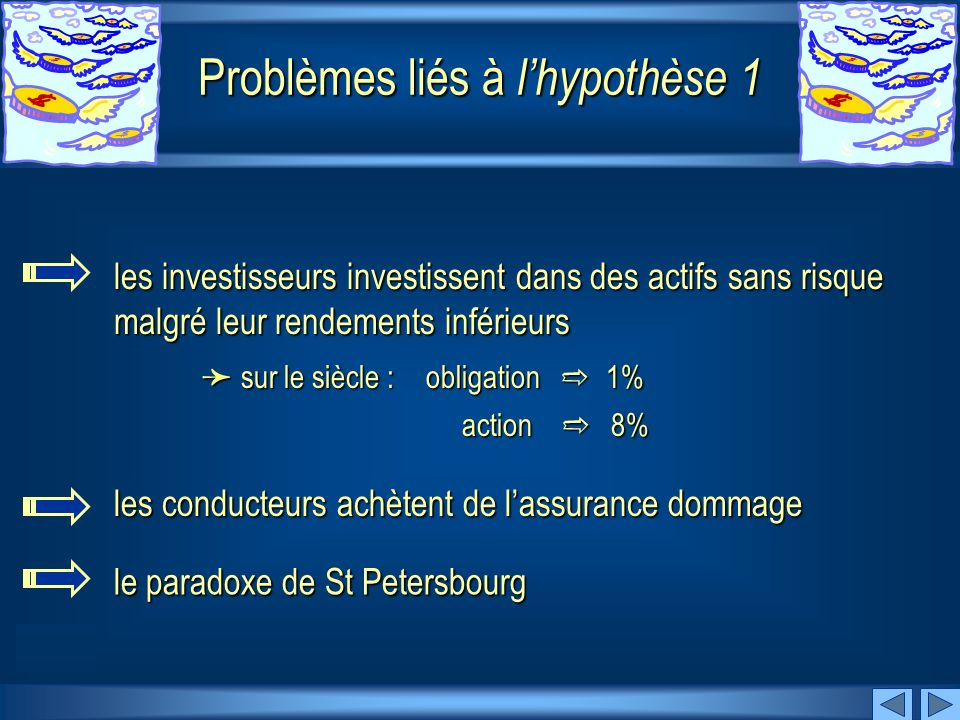 Problèmes liés à l'hypothèse 1