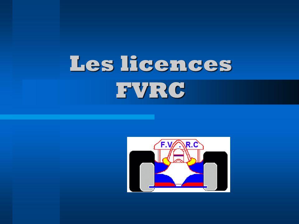 Les licences FVRC