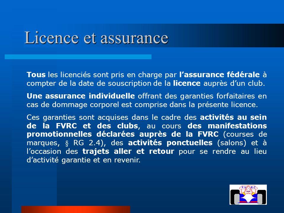 Licence et assurance