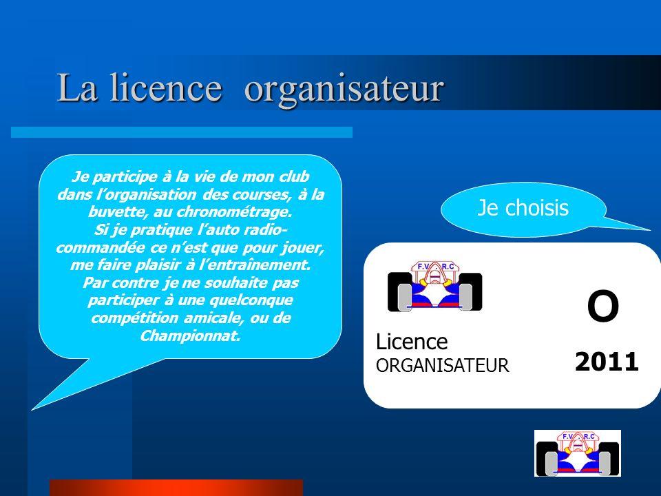 La licence organisateur