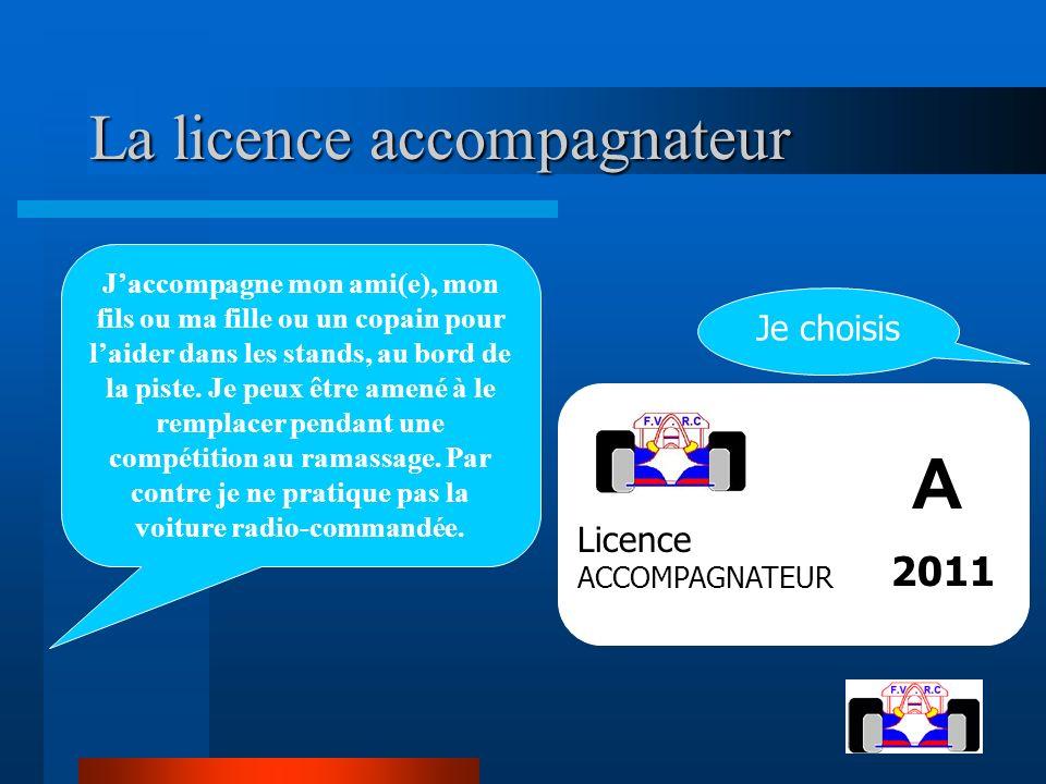 La licence accompagnateur