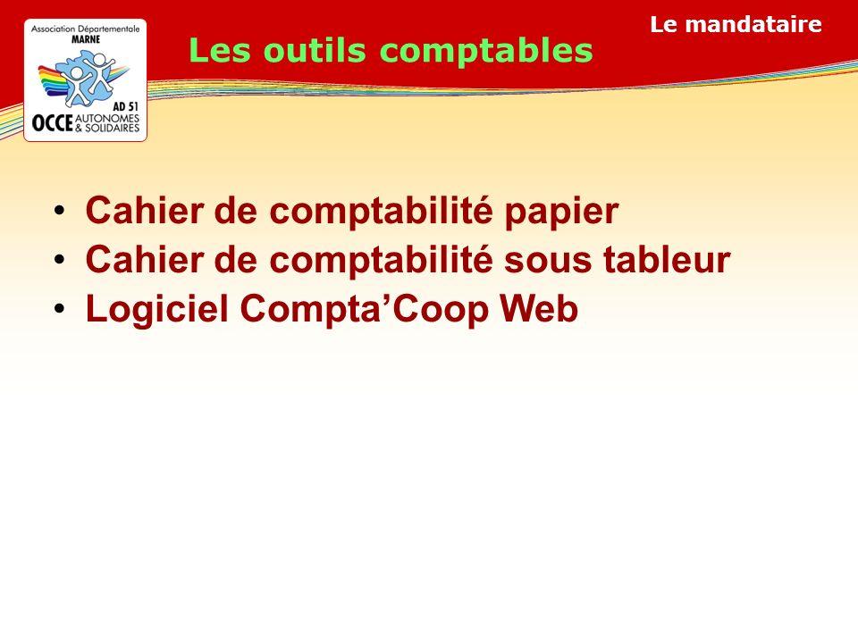Cahier de comptabilité papier Cahier de comptabilité sous tableur