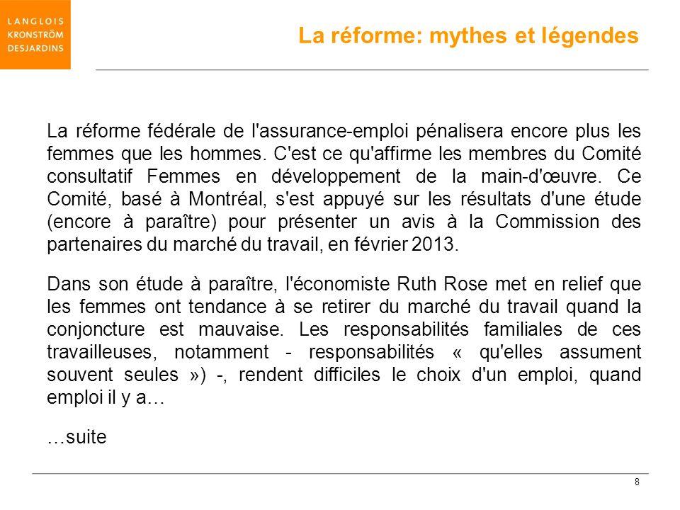 La réforme: mythes et légendes