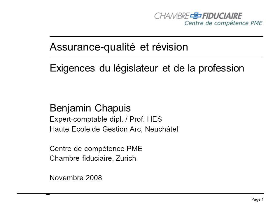 Assurance-qualité et révision