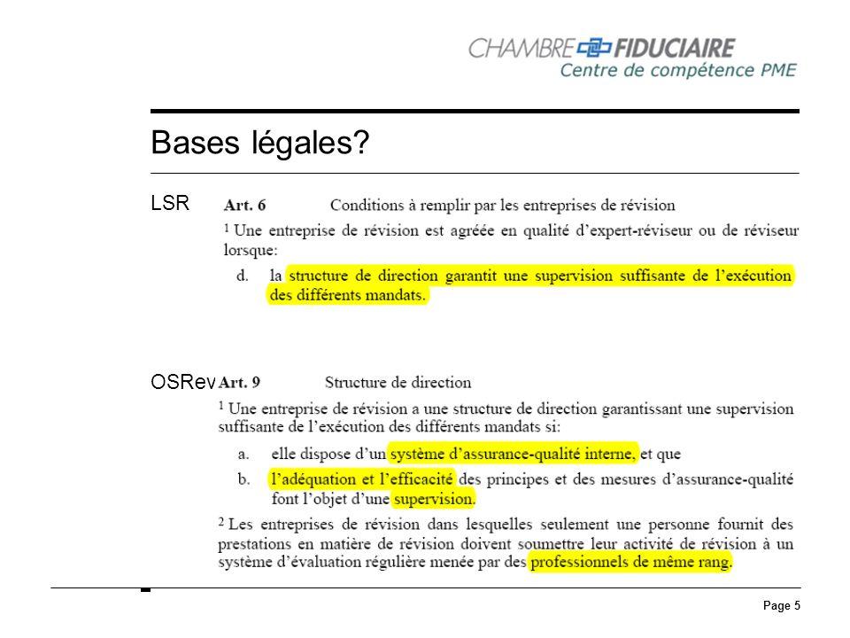 Bases légales LSR OSRev