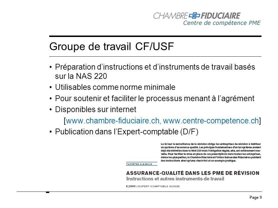 Groupe de travail CF/USF