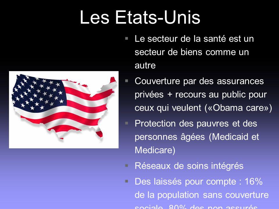 Les Etats-Unis Le secteur de la santé est un secteur de biens comme un autre.