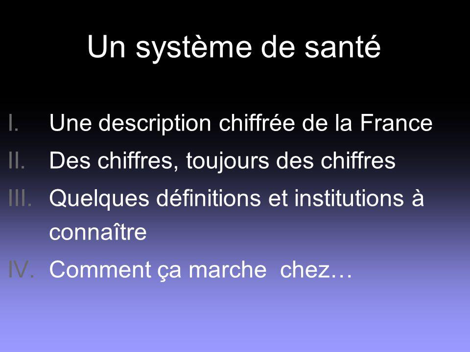 Un système de santé Une description chiffrée de la France