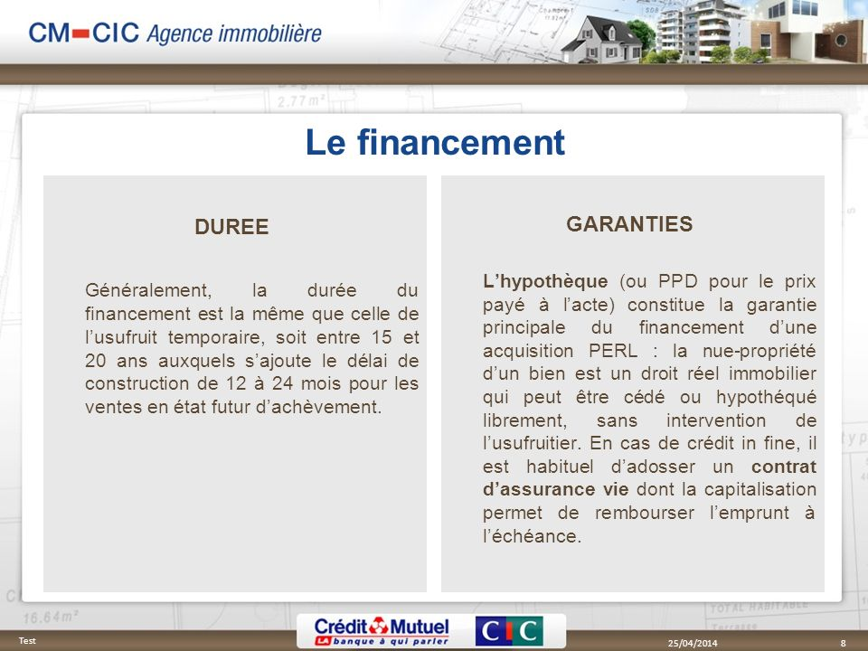 Le financement DUREE GARANTIES
