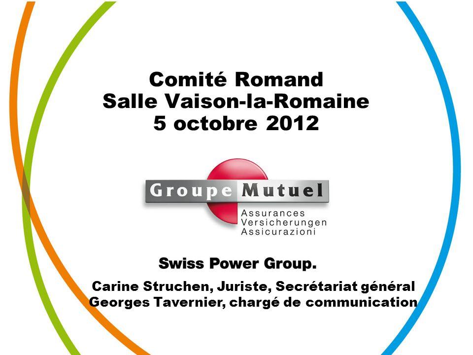 Comité Romand Salle Vaison-la-Romaine 5 octobre 2012