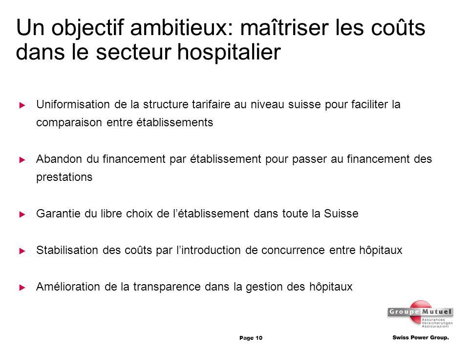 Un objectif ambitieux: maîtriser les coûts dans le secteur hospitalier